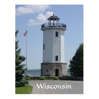 Faro de Wisconsin Tarjetas Postales