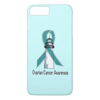 Faro del cáncer ovárico de la esperanza funda iPhone 7 plus