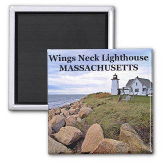 Faro del cuello de las alas imán de Massachusetts