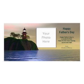 Faro del día de padre tarjetas personales