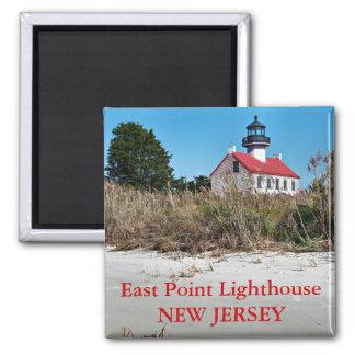 Faro del este del punto imán de New Jersey