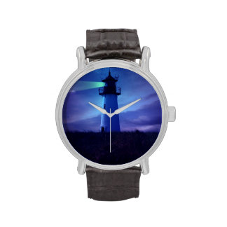 Faro del faro reloj de mano
