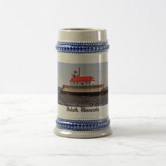 Faro del guardacostas jarra de cerveza