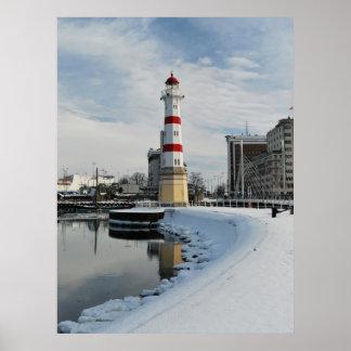 Faro del invierno impresiones
