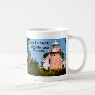 Faro del La Motte de la isla, taza de Vermont