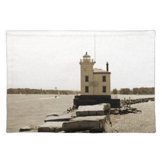 Faro del lago Erie Manteles