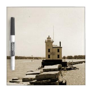 Faro del lago Erie Tablero Blanco