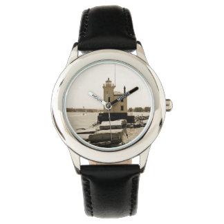 Faro del lago Erie Reloj