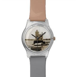 Faro del lago Erie Relojes De Pulsera