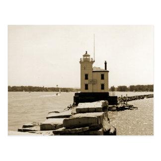 Faro del lago Erie Tarjeta Postal