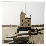Faro del lago Erie Tejas