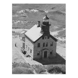 Faro del norte del Block Island Postales
