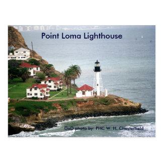Faro del Point Loma/San Diego, California Tarjeta Postal