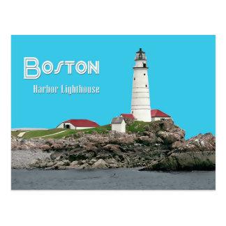 Faro del puerto de Boston Tarjetas Postales