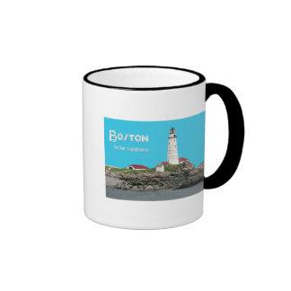 Faro del puerto de Boston Taza De Dos Colores