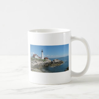 Faro del puerto de la barra taza clásica