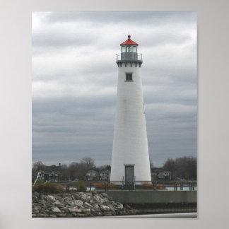 Faro del puerto del estado de Milliken Poster
