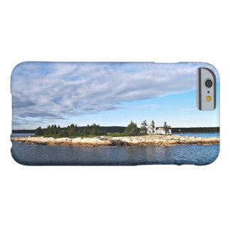 Faro del puerto del invierno, Maine Funda De iPhone 6 Barely There
