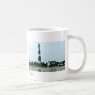 Faro del puesto de observación del cabo tazas de café