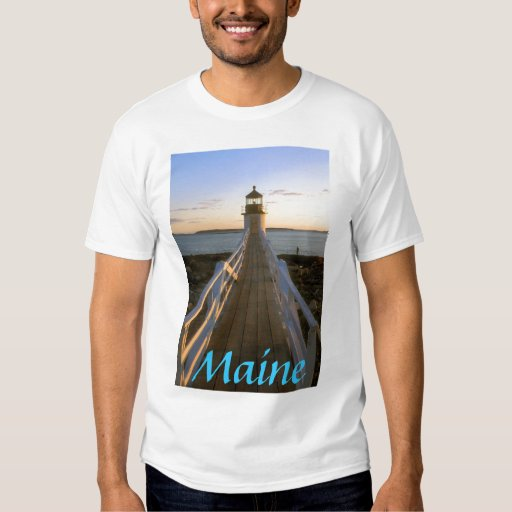 Faro del punto de Maine Marshall Playera