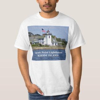 Faro del punto de Nayatt, camiseta de Rhode Island