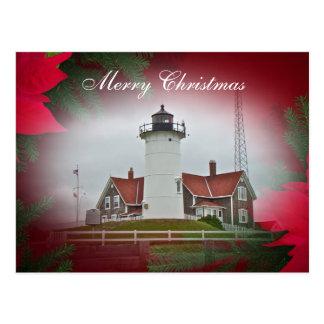 Faro del punto de Nobska del navidad Tarjetas Postales