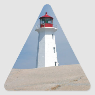 Faro del punto de Peggy Pegatina Triangular