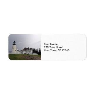 Faro del punto de Pemaquid, Maine Etiqueta De Remitente