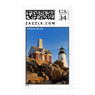 Faro del punto de Pemaquid, Maine Sellos