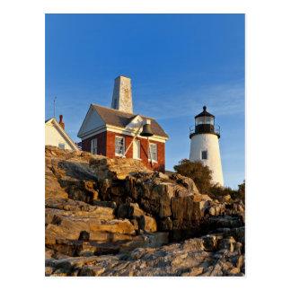 Faro del punto de Pemaquid, Maine Tarjeta Postal