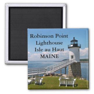 Faro del punto de Robinson imán de Maine