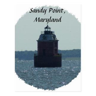 Faro del punto de Sandy Tarjeta Postal