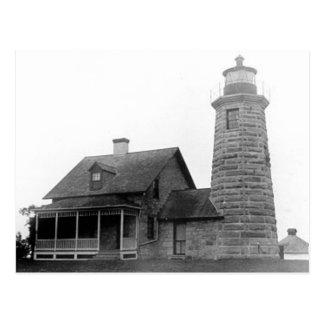 Faro del punto del molino de viento tarjeta postal