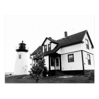 Faro del punto del puerto de la perspectiva postal