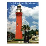 Faro del río de St Johns, postal de la Florida
