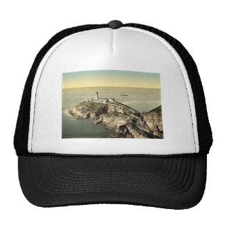 Faro del sur de la pila, foto rara de Holyhead, Pa Gorras De Camionero