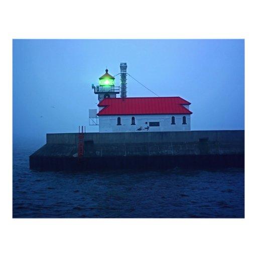 Faro del sur de niebla del embarcadero membrete