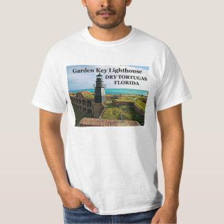 Faro dominante del jardín, Tortugas seco, camiseta Playeras