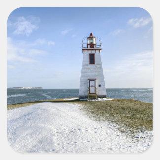 Faro el | Nuevo Brunswick de Arran de la pulgada Pegatina Cuadrada