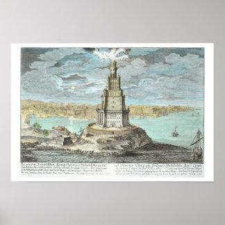 Faro en Alexandría, construida por Ptolomeo el Gre Posters