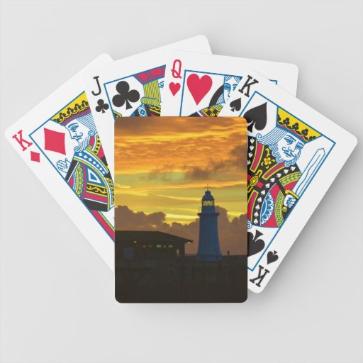 Faro en el amanecer baraja de cartas