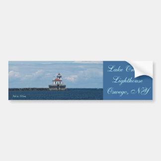 faro en el lago Ontario, el lago Ontario Lighth… Etiqueta De Parachoque