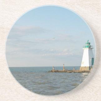 Faro en el lago Ontario Posavasos Diseño