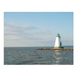 Faro en el lago Ontario Postal