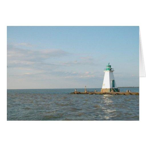 Faro en el lago Ontario Tarjeta De Felicitación