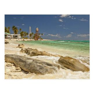 Faro en el monumento natural de Caye de la media Tarjetas Postales