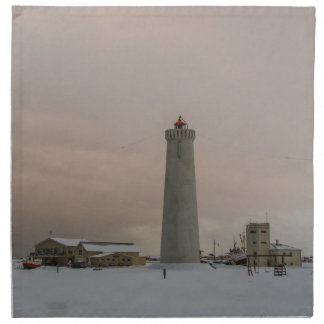 Faro en Islandia Servilletas Imprimidas