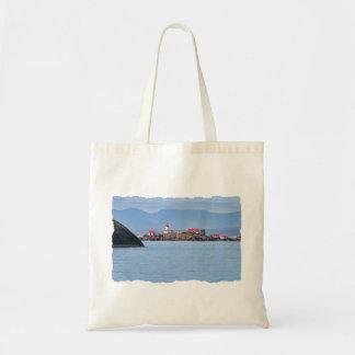 Faro en la feliz isla bolsas lienzo
