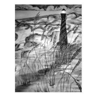 Faro en la tormenta tarjetas postales