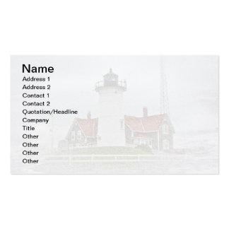 Faro en nieve tarjetas de visita